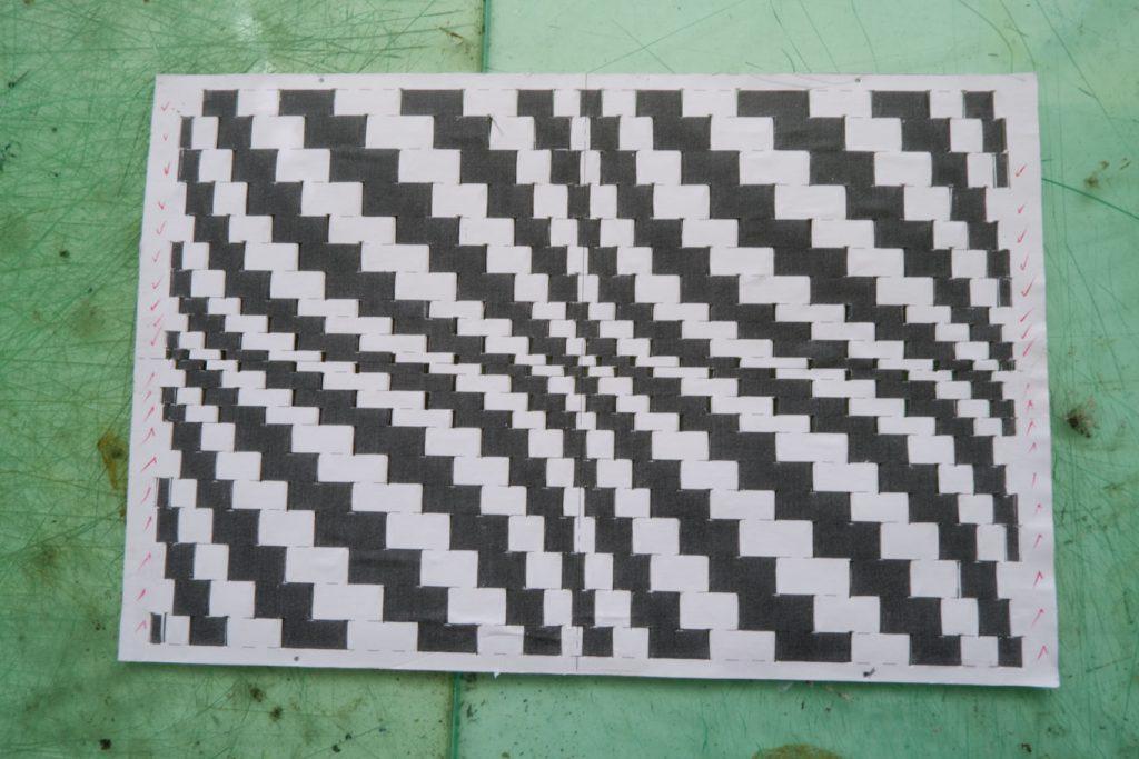 intrecciato bookcover paper pattern